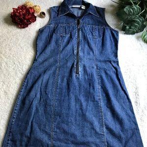 Liz Claiborne Mini Jean Dress Size 8